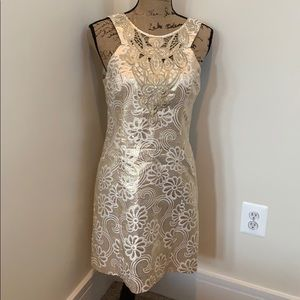 Lily Pulitzer gold foil shift dress